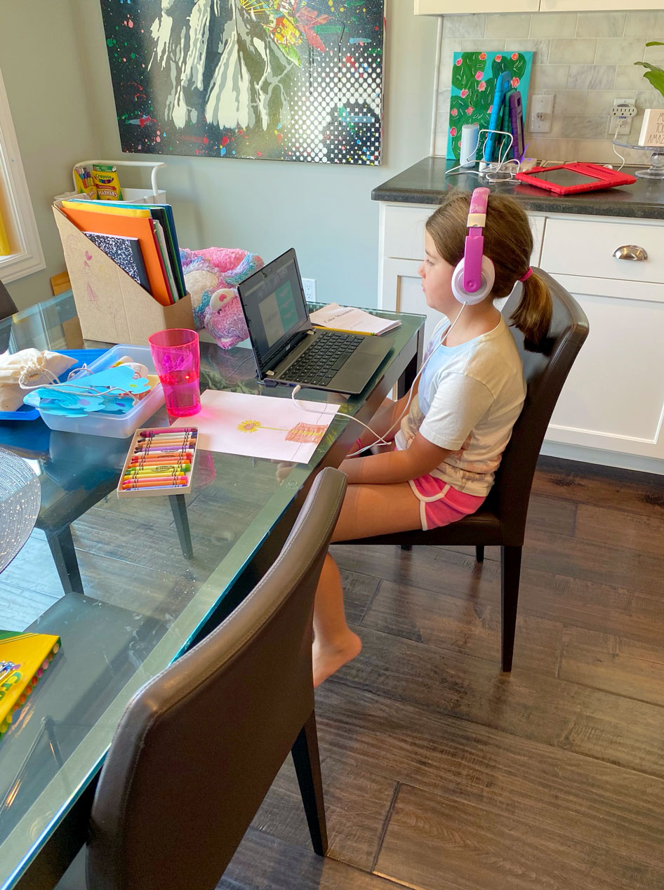 Distance Learning in a Stress-Free Home
